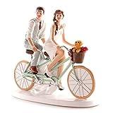 Figuras GRABADAS muñecos boda novios bicicleta para tarta pastel PERSONALIZADA bici