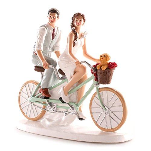 Figuras GRABADAS de boda novios bicicleta para tarta pastel PERSONALIZADA bici