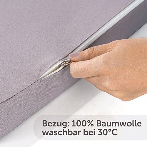 Alvi Reisebettmatratze Komfort 60×120 cm/Höhe 6 cm – Matratze für Baby Reisebett mit Baumwollbezug und Tasche, atmungsaktiv, waschbar, schadstoffgeprüft - 4
