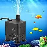 Rehomy 1 mini bomba de agua sumergible USB micro bomba silenciosa para acuario, pecera
