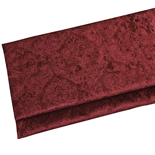 ZSYGFS 145 Cm De Ancho Tela De Terciopelo Suave Espesar para Coser De Chaquetas Decoración Decoración del Hogar Cortinas Tapicería Vestido Sillas Ropa Vendido por Metro(Color:Vino Rojo)