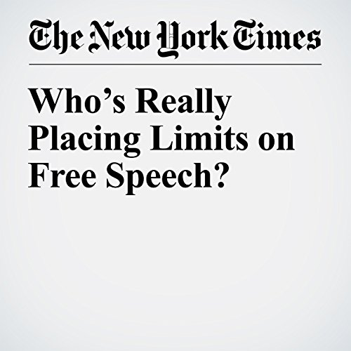 Who's Really Placing Limits on Free Speech? copertina