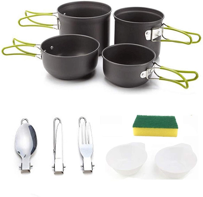 Outdoor Cookware Set, Wild Pot Cookware Set 23 Portable Aluminum Cookware Set