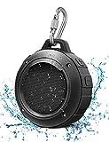 LENRUE Wasserdicht Bluetooth Lautsprecher, Kabellos Mini Tragbare Dusche Lautsprecher mit HD Stereo, 8 Stunde Spielzeit, Mikrofon, Saugnapf, Karabiner, Speaker für Outdoor, Wandern, Camping, Beach