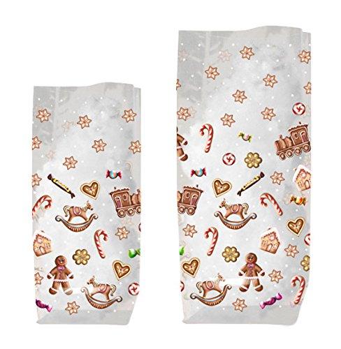 Ursus 5860000 - Geschenk-Bodenbeutel, Süße Weihnachten, ca. 14,5 x 23,5 cm, 10 Stück