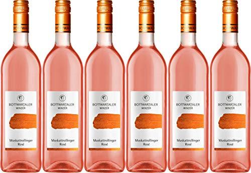 Bottwartaler Winzer Basic Muskattrollinger Rosé 2019 Lieblich (6 x 0.75 l)