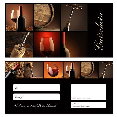 LYSCO 50 x Geschenkgutscheine (Wein-641) Ein super Produkt für Ihre Kunden. Gutscheine Gutscheinkarten Gastronomie