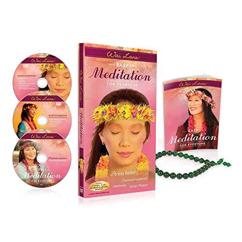 Wai Lana: Easy Meditation for Everyone Gift Set – 2 DVDs 1 CD and Japa Beads - 10 Easy-to-Follow Methods of Yoga Sound Meditation