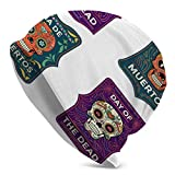 Day The Dead Sugar Skull For Poster Flyer Winter Soft Warm Skull Caps for Women for Jogging, Cycling