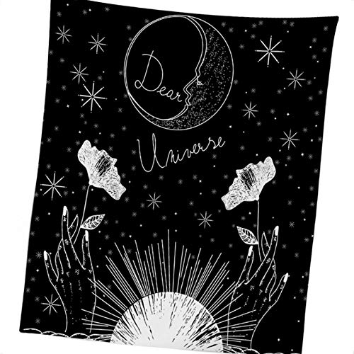 ELENXS Europe Divination Tapestry La Lune The Star The Sun Tapestry Hanging Wall Tapestries Mystérieuse Accueil Bedroon Décor