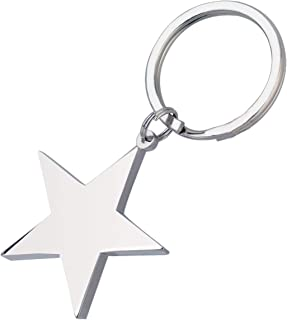 Novelty Silver Metal Star Shaped Key Holder Keyring Keychain for Kids Women Men