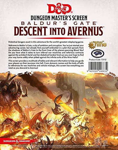 GaleForce Nine Dungeons & Dragons Descent into Avernus - DM Screen