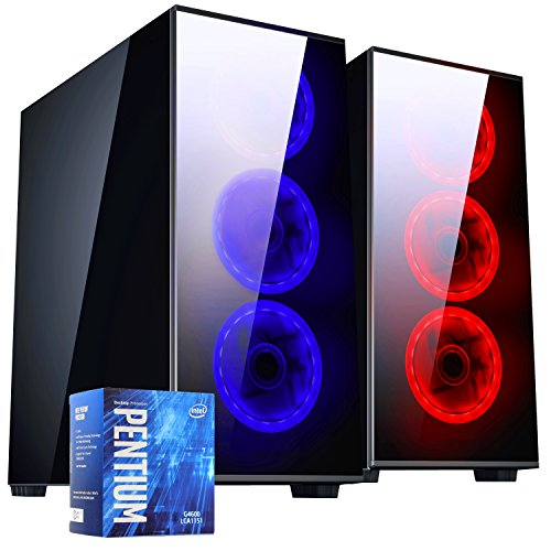 PC DESKTOP GAMING▬DILC MERAK BLUE▬ASSEMBLATO COMPLETO▬COMPUTER FISSO Intel G5600 3.9 GHZ▬SK VIDEO GT 1030 AERO ITX 2GB OC▬RAM 8GB▬SSD+HD 1TB