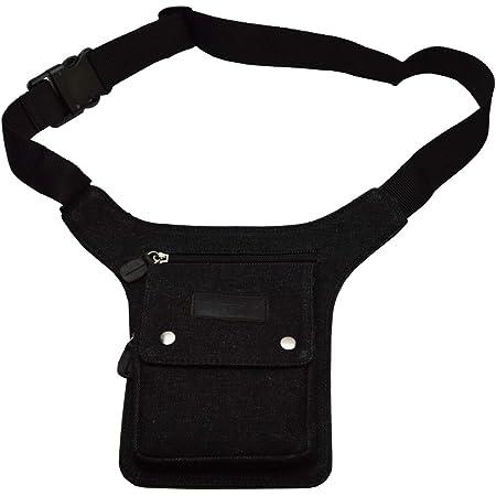 flevado Sidebag Hüfttasche Gürteltasche nur noch in ganz schwarz ohne Zeichen, Schwarz, ca. 28 cm lang