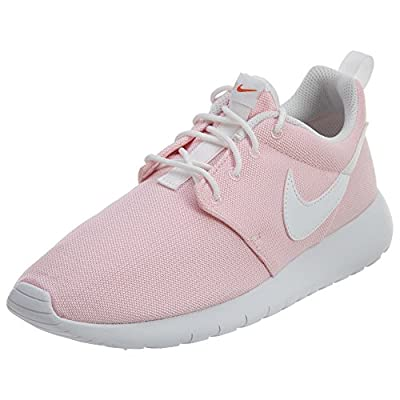 Nike Kids Roshe One (GS) Prism Pink/White Safety Orange Running Shoe 7 Kids US