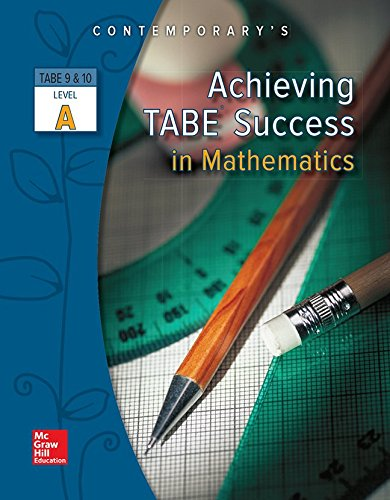 Achieving Tabe Success In Mathematics Level A Workbook Achieving Tabe Success For Tabe 9 10