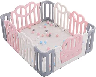 Baby Fence Children Activity Center Safety Playground Anywhere Plastic Panel Portable Indoor Outdoor Protection Fence