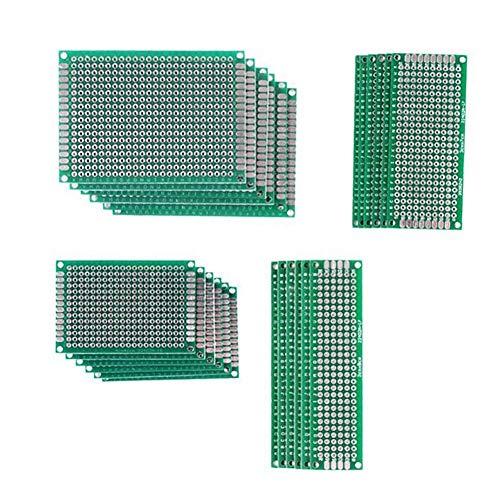30 PCS 5x7 4x6 3x7 2x8CM Double Sided PCB Board Prototype Kit for DIY
