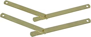 National Hardware N327-346 DPB1894 Table Leg Braces in Brass, 2 pack