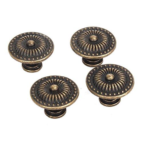 BESTOMZ 4pcs Vintage Schublade Schrank Pull Griff Knopf (Bronze)