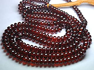 Jewel Beads Natural Beautiful jewellery 18 Inches Strands, Super AAA Quality,Large Orange Hessonite Garnet Smooth Rondelles,6.5-9mmCode:- JBB-39491