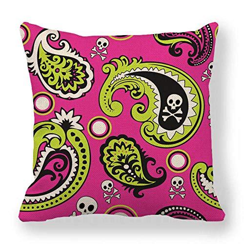 LPLH Geometric Lattice Cashew Pattern encrypted fine Linen Pillowcase Cushion Cover modern Minimalist Style Ym273-1_45*45cm