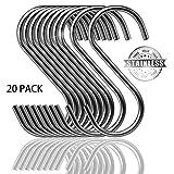 20 Stück S Haken Heavy Duty Edelstahl S Form Haken Utility Hangers für Küche Utensilien Büro...