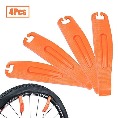 INTVN 4Pcs Palancas de neumáticos de Bicicleta Durable Fuerte Nylon Neumático de Bicicleta Crowbar Bike Tire Opener Breaker Ciclismo Herramientas de reparación de neumáticos Accesorios de Bicicleta