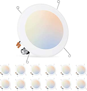 """Foxlux Recessed Lighting - 12W 5/6"""" Ultra-Thin Dimmable..."""