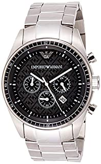 Emporio Armani Gents Chronograph Stainless Steel Bracelet Watch (B0015PRK16) | Amazon price tracker / tracking, Amazon price history charts, Amazon price watches, Amazon price drop alerts