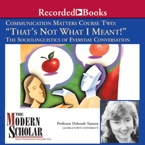 That's Not What I Meant audiobook cover art