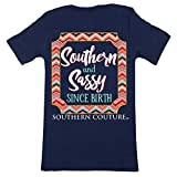 Southern Couture Classic Collection Sassy Since Birth Short Sleeve Womens Classic Fit T-Shirt; Navy, Medium