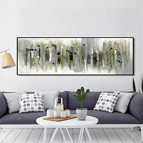 BuhuAZXM Modern abstract schilderij print op canvas poster Wall Art Decor schilderijen voor woonkamer 20x60cm Geen frame.