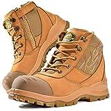 Safetoe Zapatos de Seguridad para Hombres y Mujeres, M-8501 Botas de Seguridad Modelo de Cuero Impermeable, Material de la Puntera Calzado Ligero Acerol Point, Zapatillas para Plantilla Tamaño EU 46