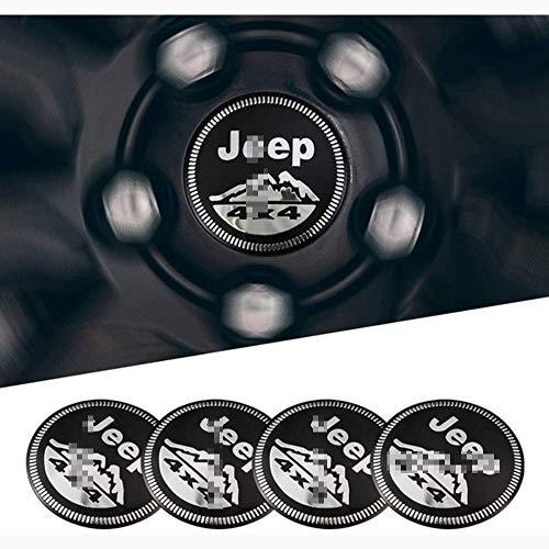 ZYLFP Llantas Centrales Tapacubos Compatible para JE EP Grand Cherokee WK KJ, Wheel Center Cap Hubs Coche Estilismo Pegat De Accesorios, 4 Piezas