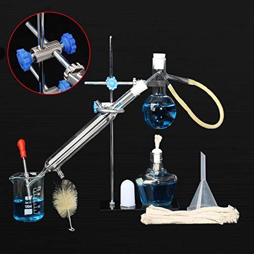 TTSUAI Unidad De Destilación Cristalería De Laboratorio Destilador De Ciencia Industrial Purificación De Rocío Puro Aceites Esenciales Alcohol Destilado