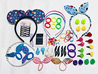 DLASSIETRENDS Hair Accessories Combo for Kids School Girl Baby Girl, Rubber Bands Easy to use in Styling Fashion Set