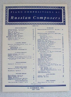 Piano Compositions By Russian Composers - Series Two - Prelude in G Minor Op 23 No. 5 (Rachmaninoff Op 23 No 5 Sheet Music)