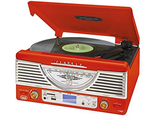 Trevi TT 1062 E - Tocadiscos (MP3, 230 V, 50 Hz), color