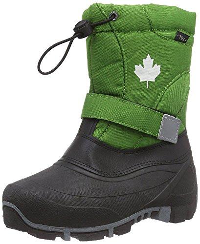 Indigo Canadians Unisex Winter Stiefel 467-185 mit Innenschuh in 2 Farben (34 EU, Green)