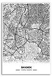 Zulumaps Poster 20x30cm Stadtplan Bangkok - Hochwertiger