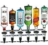 The Barbarian 6 bottiglie per alcolici: un ottimo modo per versare lo shot perfetto ogni volta! 6 bracci caricati a molla tengono saldamente le bottiglie da 70 cl o 1 litro capovolte, pronte per essere erogate. Fornito con 6 maniglie da 30 ml di alta...