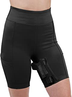 UnderTech UnderCover Women's Concealed Carry Thigh Holster Shorts (Medium, Black)