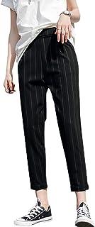ATHVOTAR スラックス レディース スーツパンツ ゆったり ワイドパンツ ウエスト ゴム ストレート 細見え 美脚 オフィス ビジネス