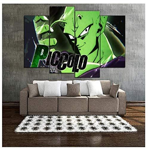 KPWAN Wohnkultur 4 stuks anime-spel dragon bal fighterz piccolo poster moderne woonkamer foto's canvas afdrukken geen lijst Maat A.