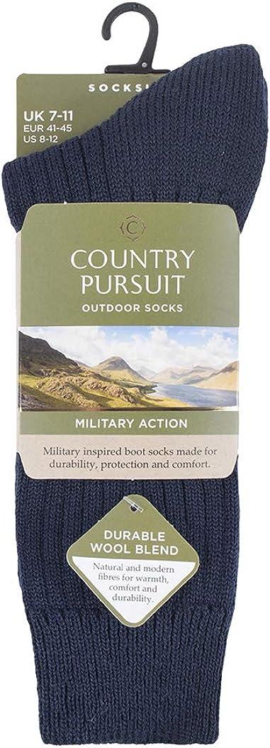 Country Pursuit 1er Pack Herren Stricken Lang Wolle Kniestr/ümpfe Wandersocken Wollsocken