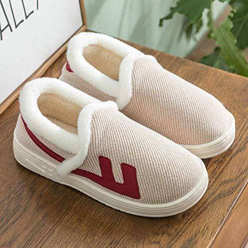 Zapatillas de Estar por casa,Zapatillas cálidas de Espalda Cerrada para Hombres jóvenes,Zapatillas Antideslizantes para el hogar de Damas,Zapatos de Espuma viscoelástica Confort,Mula Gruesa de
