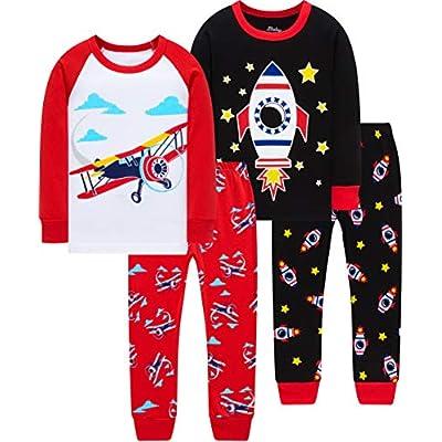 Pajamas For Boys Christmas Kids Dinosaurs Sleep...