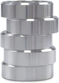 Manicar 5PCS Bisquette Saver for Bradley Smoker Upgrade Version Aluminum Wood Spacer Pucks BBQ (Silver)