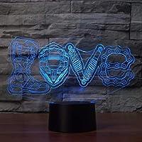 LEDメカニカルラブモデリング3Dナイトライトクリエイティブ16色変更ランプテーブルランプ家の装飾オートバイファンギフト